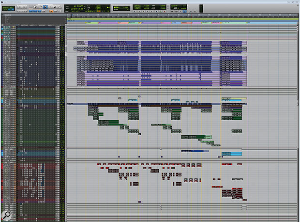 This composite screenshot shows the Pro Tools Session view for 'Concert For Aliens'. (Download the ZIP file for a detailed, larger view.)
