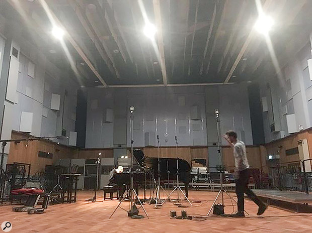 Joba's piano parts were recorded by Andy Maxwell in the cavernous Studio1.