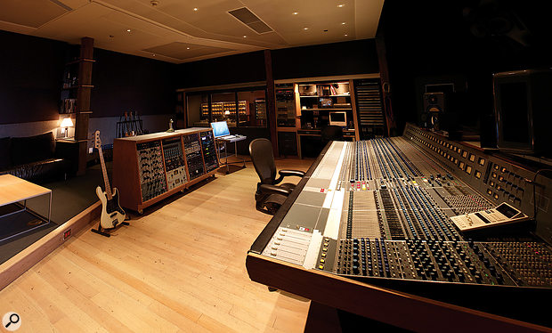 The Neve desk at the Warehouse in Vancouver was one of three originally built to specifications laid down by George Martin and Geoff Emerick when they were developing AIR Studios in London and Montserrat.