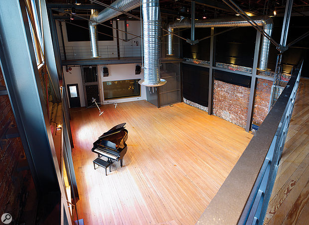 The live room in Warehouse Studio 2, Vancouver, where the session was recorded.