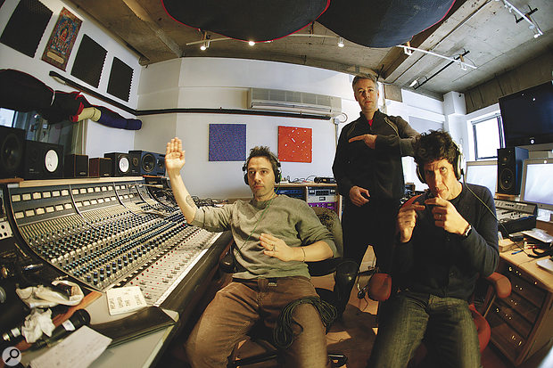 The Beastie Boys at Oscilloscope Laboratories. From left: Adroc (Adam Horowitz), MCA (Adam Yauch) and Mike D (Michael Diamond).
