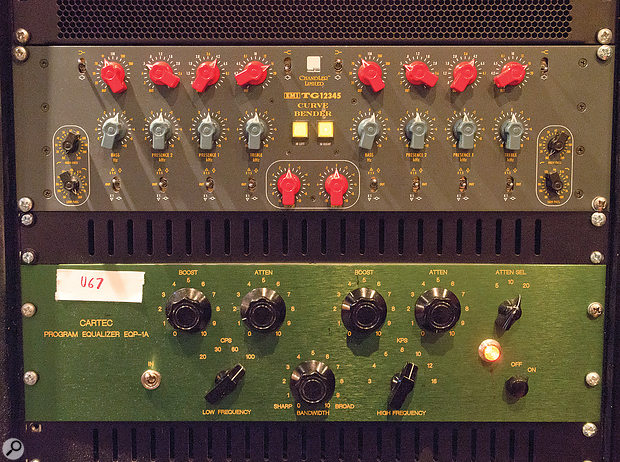 Two units that saw lots of use on the 1975's album were his Thermionic Culture Earlybird EQ and Cartec EQP1A.
