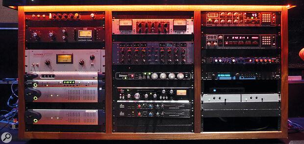Todd Hurtt's standard vocal chain for Polo G includes aTeletronix LA‑2A compressor (left, centre).
