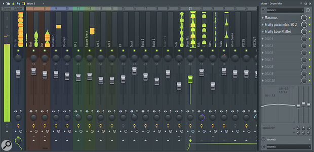 FL Studio's Mixer has some slightly unconventional aspects but offers a good array of features and very flexible audio routing.