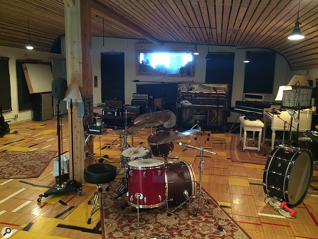 Another view of the Studio A  live room, which features a number of 'stations' set up and ready for musicians to come in and jam.