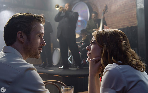 La La Land follows the fortunes of jazz pianist Sebastian (Ryan Gosling, left) and actress Mia (Emma Stone).