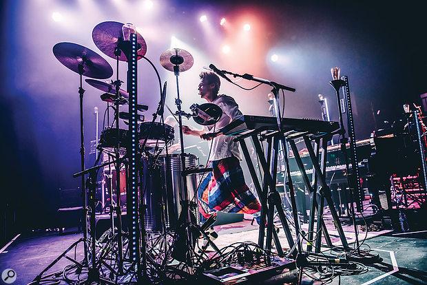 Multi-instrumentalist Jacob Collier performing live.