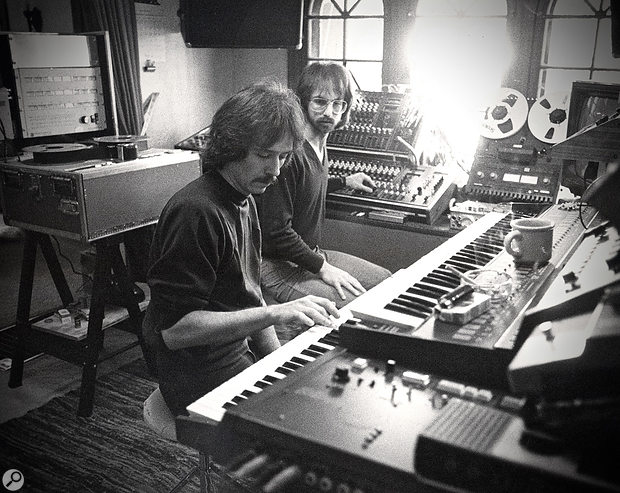 John Carpenter (left) and Alan Howarth in Howarth's Pi West Studio, 1980. This shot was taken when the duo were working on their first project together, the soundtrack to Carpenter's Escape From New York.