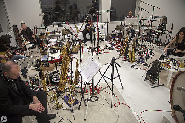 The bulk of PJ Harvey's most recent album The Hope Six Demolition Project was recorded as a public art installation, in a large white room at Somerset House in London.