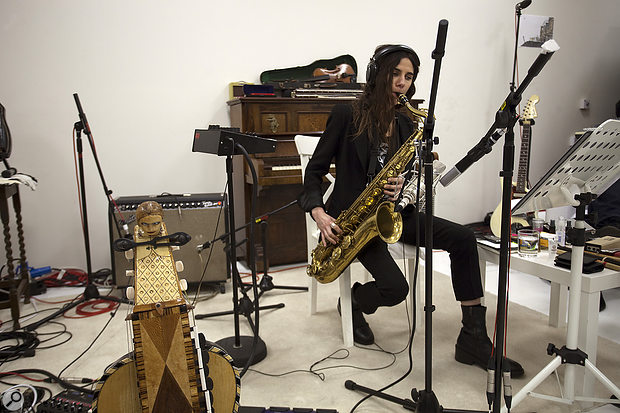 PJ Harvey's musical vision for The Hope Six Demolition Project was a distinctive one, with no conventional drum kit, and extensive use of instruments that contributed low-mid texture.