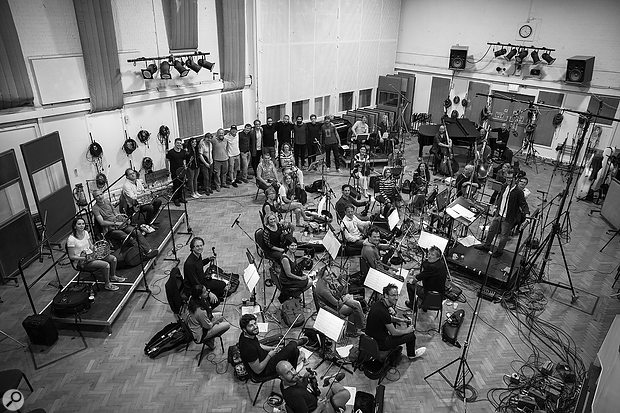 The six weeks of core sessions for Divide culminated in the recording of a 30-piece string orchestra at Abbey Road.
