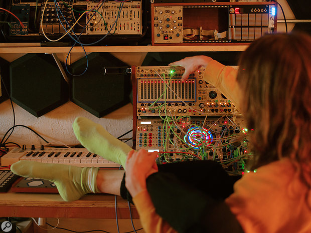 The Buchla Easel is at the heart of all of Smith's live and studio productions.