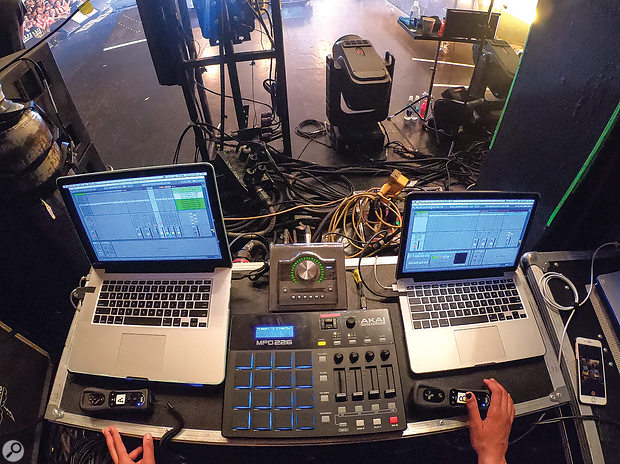 In terms of software, Laura's weapon of choice for show design and playback is Ableton Live.