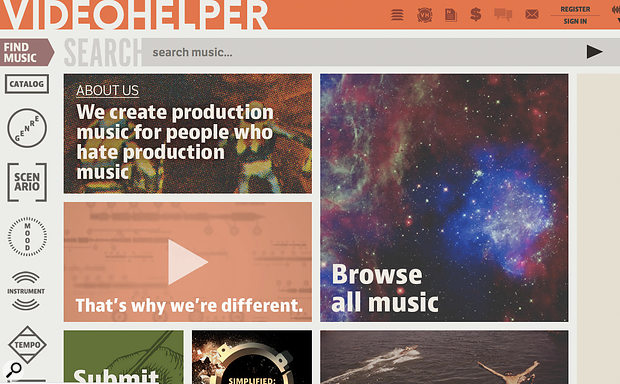 Like many independent libraries, Video Helper specialise in a particular niche within the production music business.