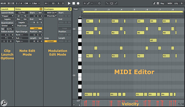 Screen 3: Live's MIDI editor expanded to full height.