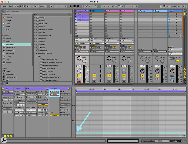 Screen3: Add your Chain Selector automation inside aclip that is labelled according to the name of the song that the patch is used in; this will help keep your backing track project organised and clear.