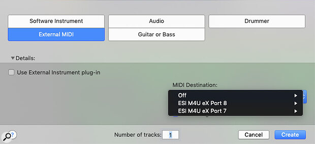 To use Auto Sampler to capture ahardware instrument, you must first tell it which MIDI port and channel your instrument is listening to.