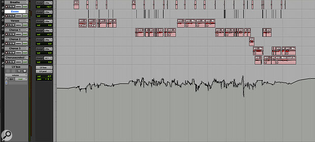 Achieving a natural lead vocal sound meant splitting problem sounds such as esses and breaths to their own separate tracks.
