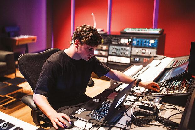 Garrix at work in STMPD Recording Studios.