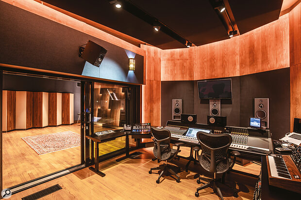 STMPD Studio 4 comprises a control room based around a Neve Genesys, and a 45‑metre‑square live room.