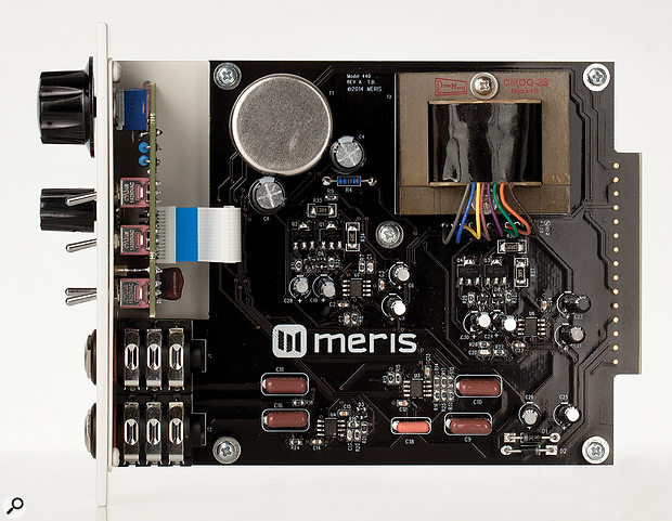 The circuitry, based on the venerable API 312, uses modern surface-mount components and employs Cinemag input and output transformers.
