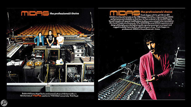 By the end of the '70s, Midas had amassed a prodigious client list, including Frank Zappa.