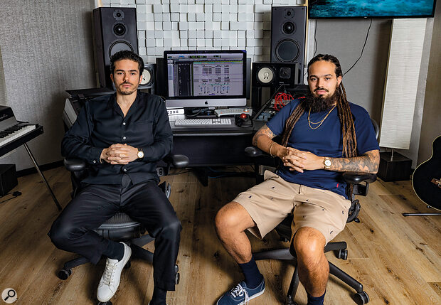 Jordan (left) and Stefan Johnson are key members of five‑person writing and production team the Monsters & Strangerz.