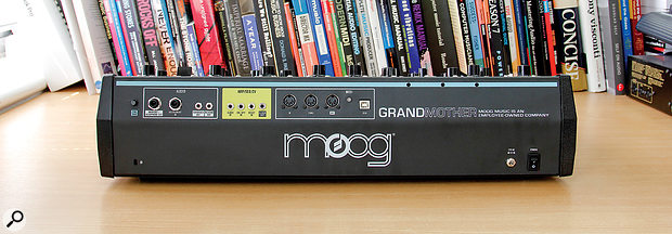 Rear panel of the Moog Grandmother.