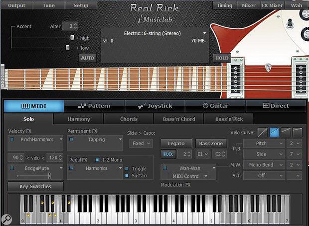 RealRick's GUI, in Solo Mode.