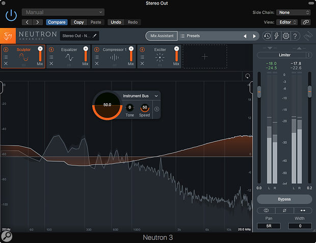The new Sculptor module is a clever multiband dynamics processor.