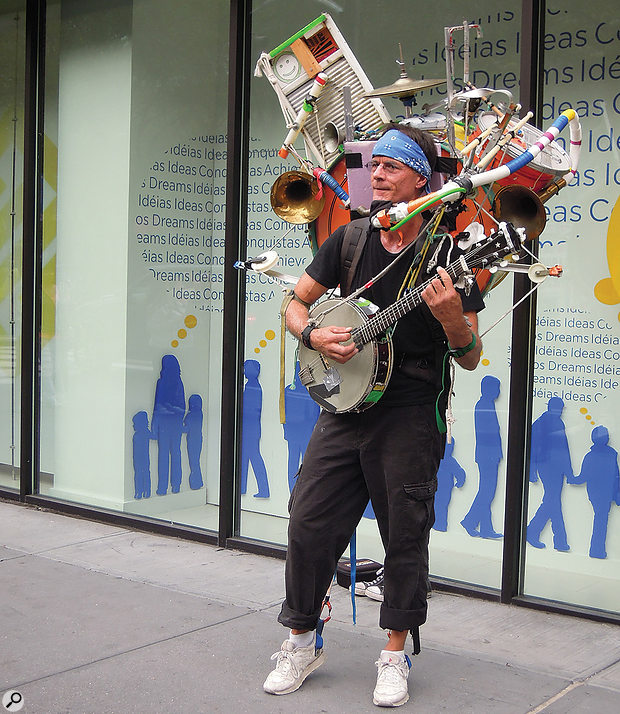 """I'm not actually busking, just working on expanding my skill set."""