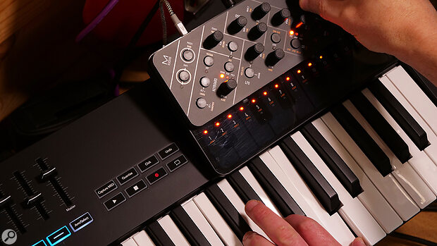 A five-pin MIDI Out and a host of onboard features mean the Launchkeys play especially well with hardware synths.