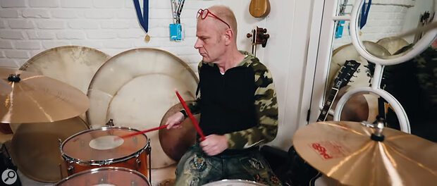 Tom Holkenborg gives one of his many drum kits some welly.