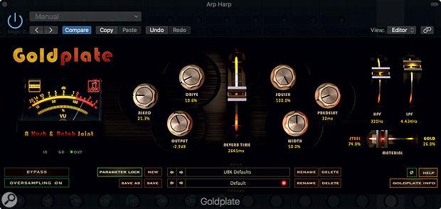 Kush GoldPlate reverb plug-in.