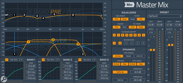 Tracktion's Master Mix plug-in is a simple but sophisticated one-stop mastering processor at a remarkably affordable price.