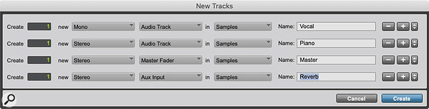 Not a world-changing development, but worthwhile: tracks can now be named as they are created.
