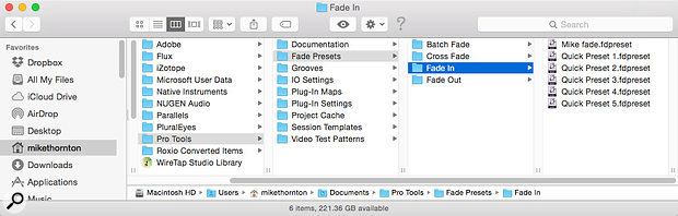 If you can locate this folder, you can copy your fade presets to other systems.