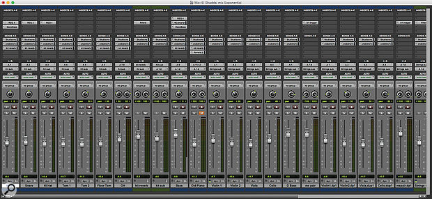 Screen 1: As Pro Tools sessions grow, they can quickly become too big to fit on screen without scrolling.