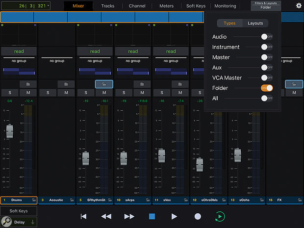 The EUCON app and control surfaces now support Pro Tools' Track Folders.