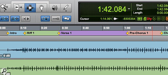 It's easier to take in a song structure at a glance with the Always Display Marker Colours option enabled.
