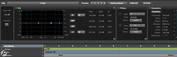 Pro Tools Ultimate users can reassign the 1-5 keys to access clip effect presets rather than zoom presets.