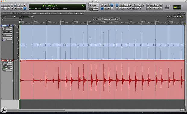 Screen 1: The effect of varying MIDI velocity on the recorded drum sound.