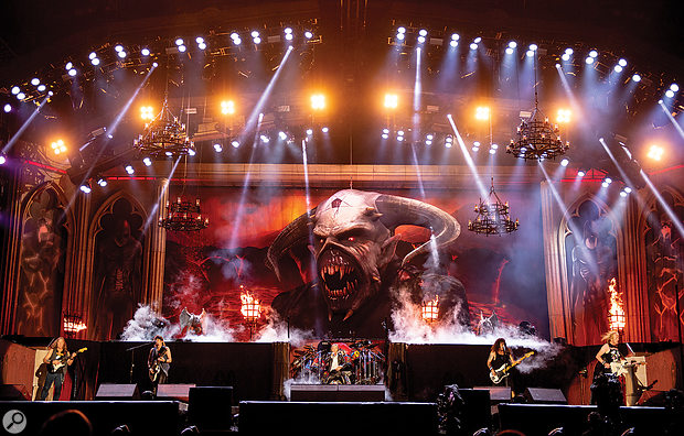 Iron Maiden on tour in 2019.
