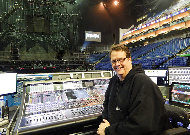 For arena shows where the front-of-house system includes side– and front–fills, Pooch sends to those on his mixer's matrix outputs so that he can ride the output levels between verses and choruses.