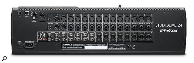 In addition to the main, mono and control-room outputs, there are 16 fully assignable outputs that can be pressed into service as aux sends, busses or matrix groups.
