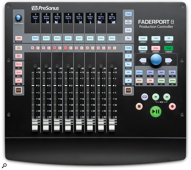 The Faderport 8 doesn't take up too much room on your desk, measuring 301 x 334 mm.