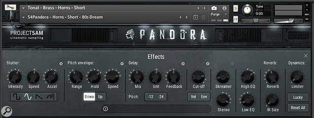 A gallery of real-time effects includes a tempo-sync'ed stutter effect and a synthesizer-style pitch envelope.