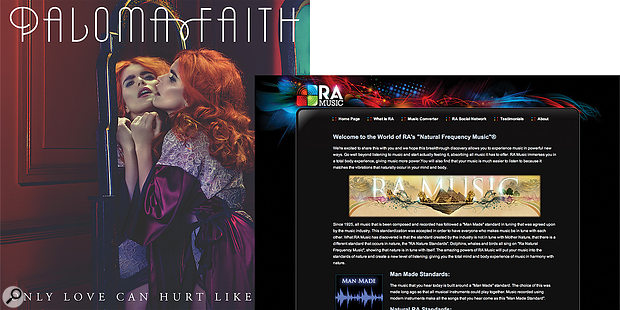 Is the eccentric tuning on Paloma Faith's 'Only Love Can Hurt Like This' due to design or mistake?