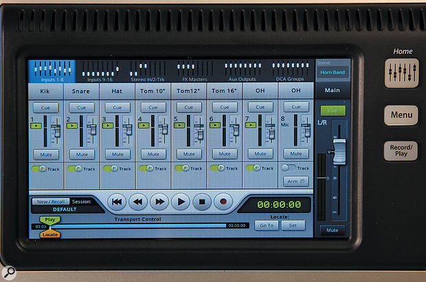 Multitrack recordings, of all the individual inputs plus the stereo mix, can be made directly to a USB disk.