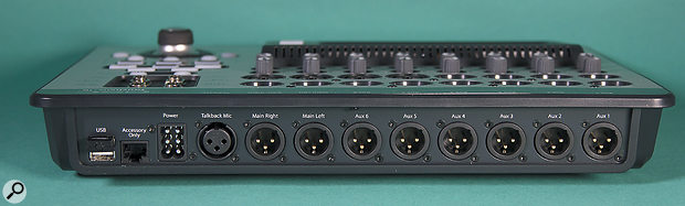 All of the TouchMix's outputs are presented on XLR sockets.